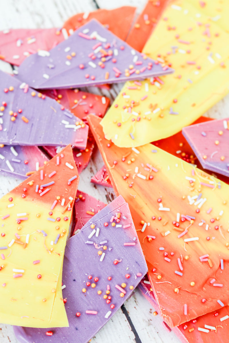 White Chocolate Sunset Bark | What Charlotte Baked