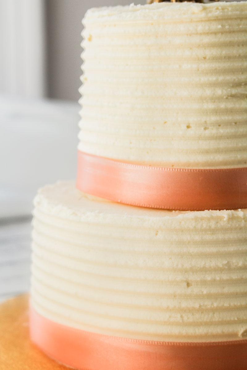 Almond Wedding Cake.Almond Layer Cake With Almond Buttercream
