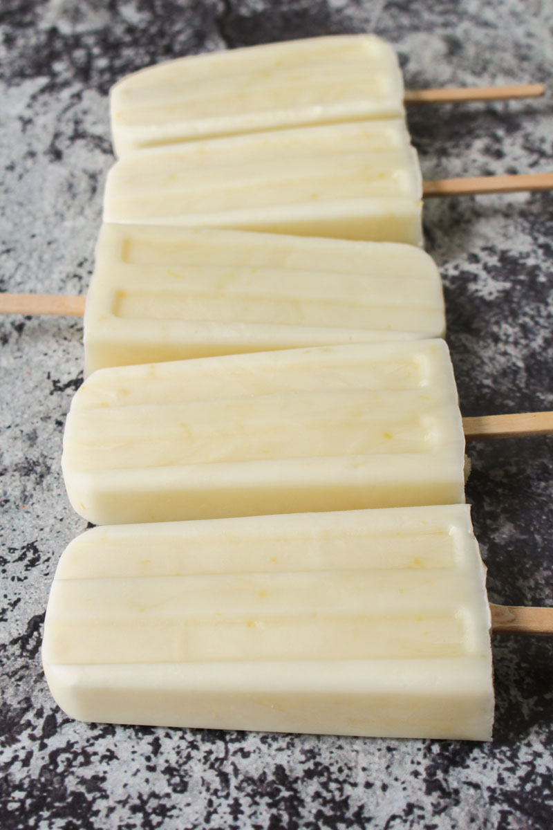 Creamy Lemon Ice Pops recipe | What Charlotte Baked
