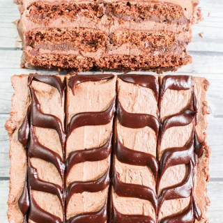 Chocolate Cheesecake Ice Box Cake