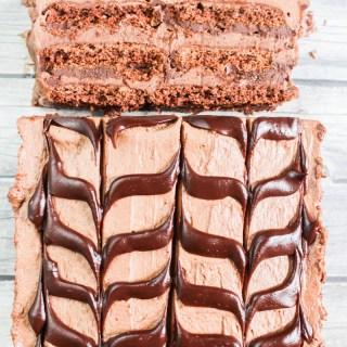 Chocolate Cheesecake Ice Box Cake recipe | What Charlotte Baked