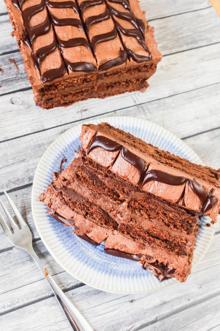Chocolate Cheesecake Ice Box Cake recipe   What Charlotte Baked