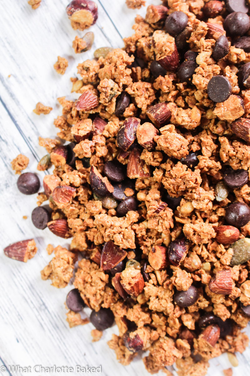Salted Caramel Granola recipe | What Charlotte Baked