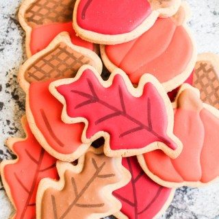 Peanut Butter Sugar Cookies with Easy Royal Icing | What Charlotte Baked