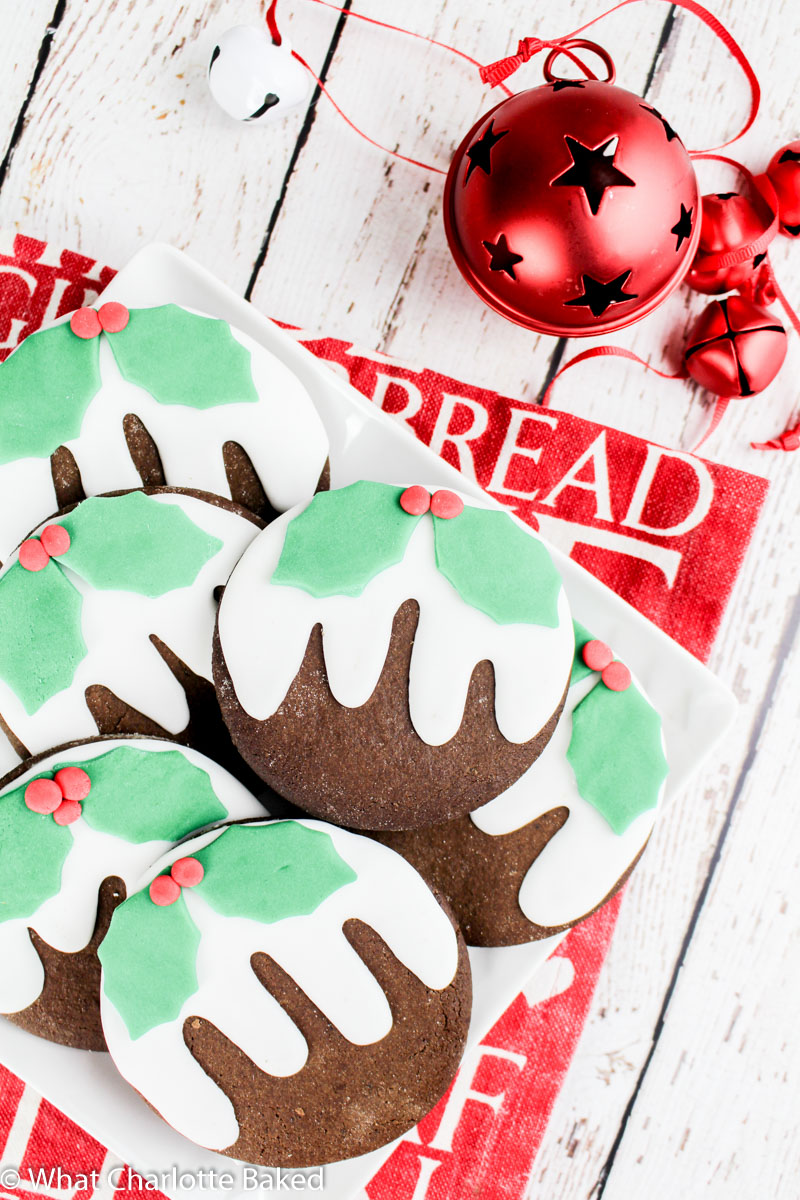 Christmas Pudding Cookies (Dark Gingerbread) recipe | What Charlotte Baked