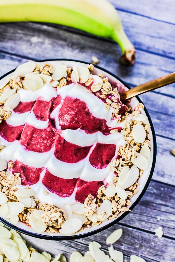 Cherry Bakewell Smoothie Bowl recipe - Cherry & Almond | What Charlotte Baked