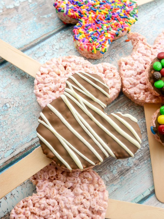 Marshmallow Rice Krispies Mickey Mouse Pops recipe | What Charlotte Baked