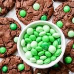 Mint Chocolate M&M Cookies