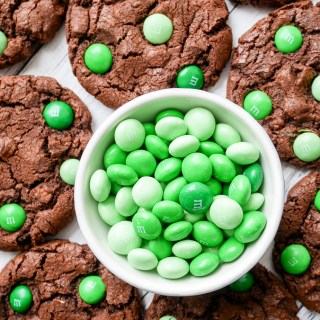Mint Chocolate M&M Cookies