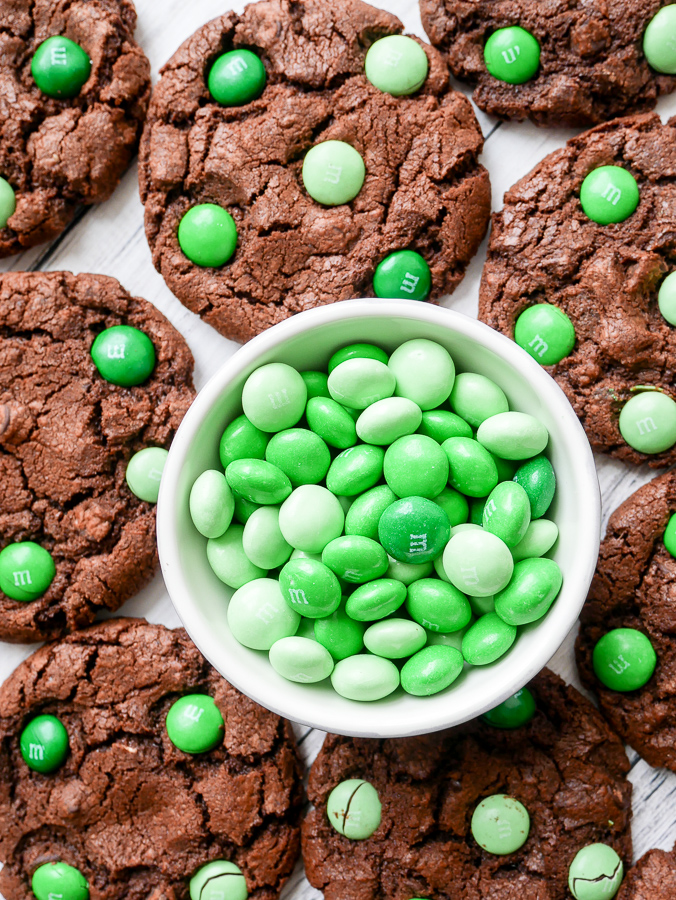 Mint Chocolate M&M Cookies recipes | What Charlotte Baked