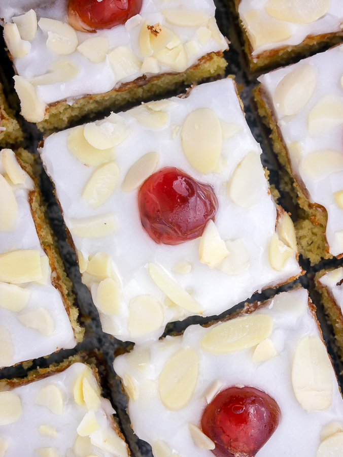 Cherry Bakewell Slices recipe | What Charlotte Baked