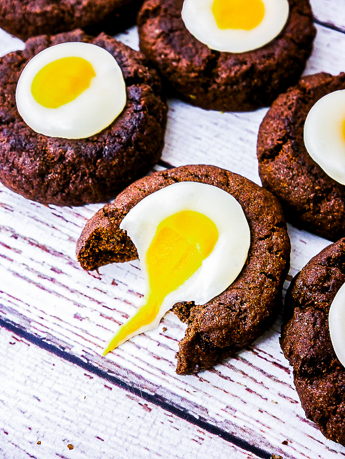 Creme Egg thumbprint Cookies recipe | What Charlotte Baked