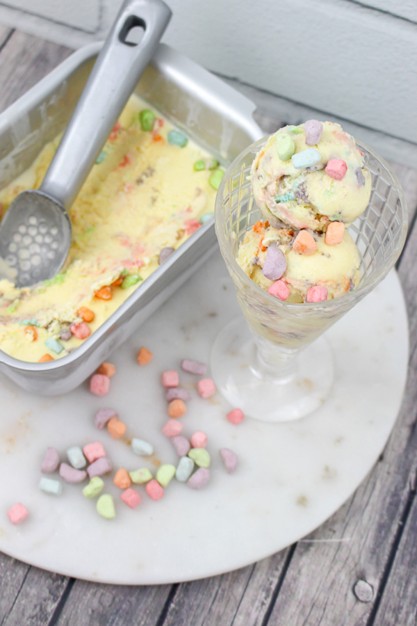 Lucky Charms Cereal Milk Ice Cream recipe | What Charlotte Baked