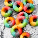 Mini Rainbow Doughnuts (Baked)