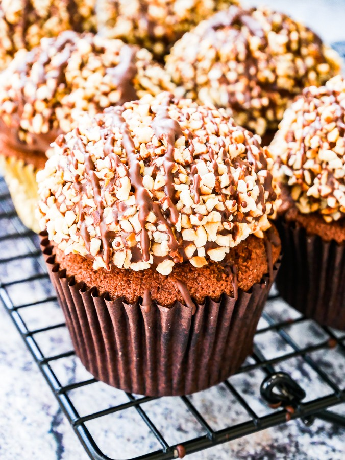 Ferrero Rocher Cupcakes recipe | What Charlotte Baked