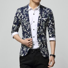 2015-New-Arrival-Pattern-Half-sleeve-Mens-Floral-Blazer-Jacket-Cheap-Teenagers-Sport-Suit-Casual-Slim