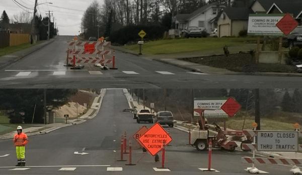 Church Road construction