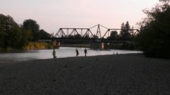 Nooksack River by VanderYacht Park in Ferndale (August 15, 2015). Photo: Whatcom News