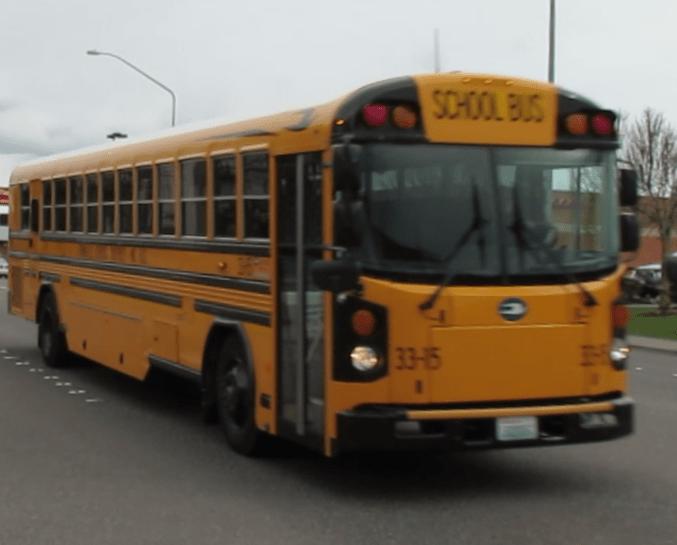 Ferndale School District bus (March 8, 2017). Photo: My Ferndale News