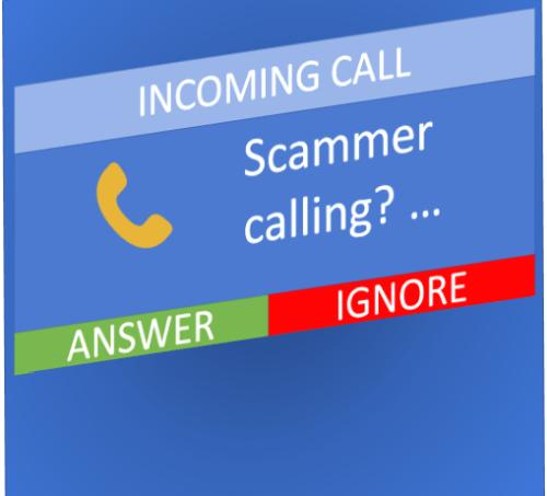 scamming calling phone screen final