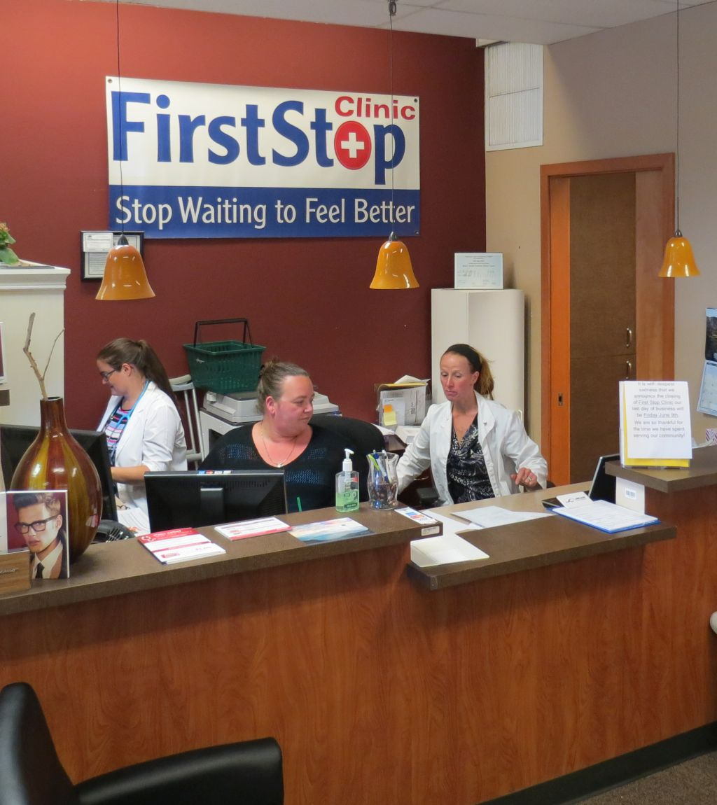 front counter staff at first stop clinic in Ferndale Haggen building 2017-06-05