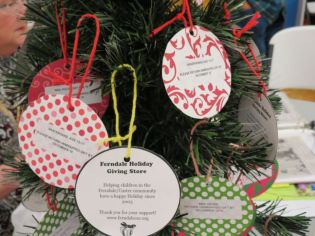 Ferndale Community Service Cooperative Holiday Giving Store tree (2017). Photo: My Ferndale News