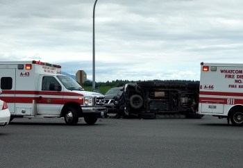 Scene of rollover crash at the intersection of Ferndale and Slater Roads 2018-06-22 1600