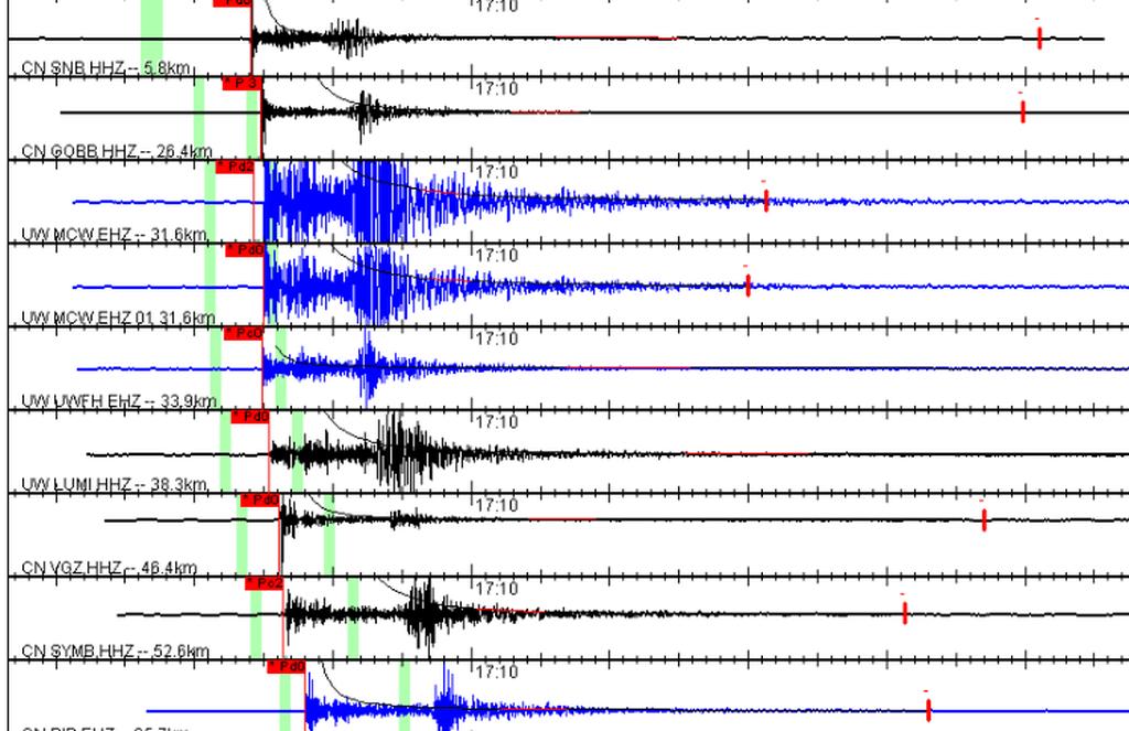 seismograph waveform chart 2018-06-08