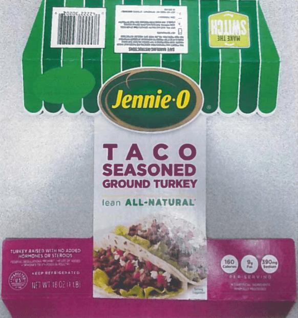 recalled ground turkey package sample src fsis