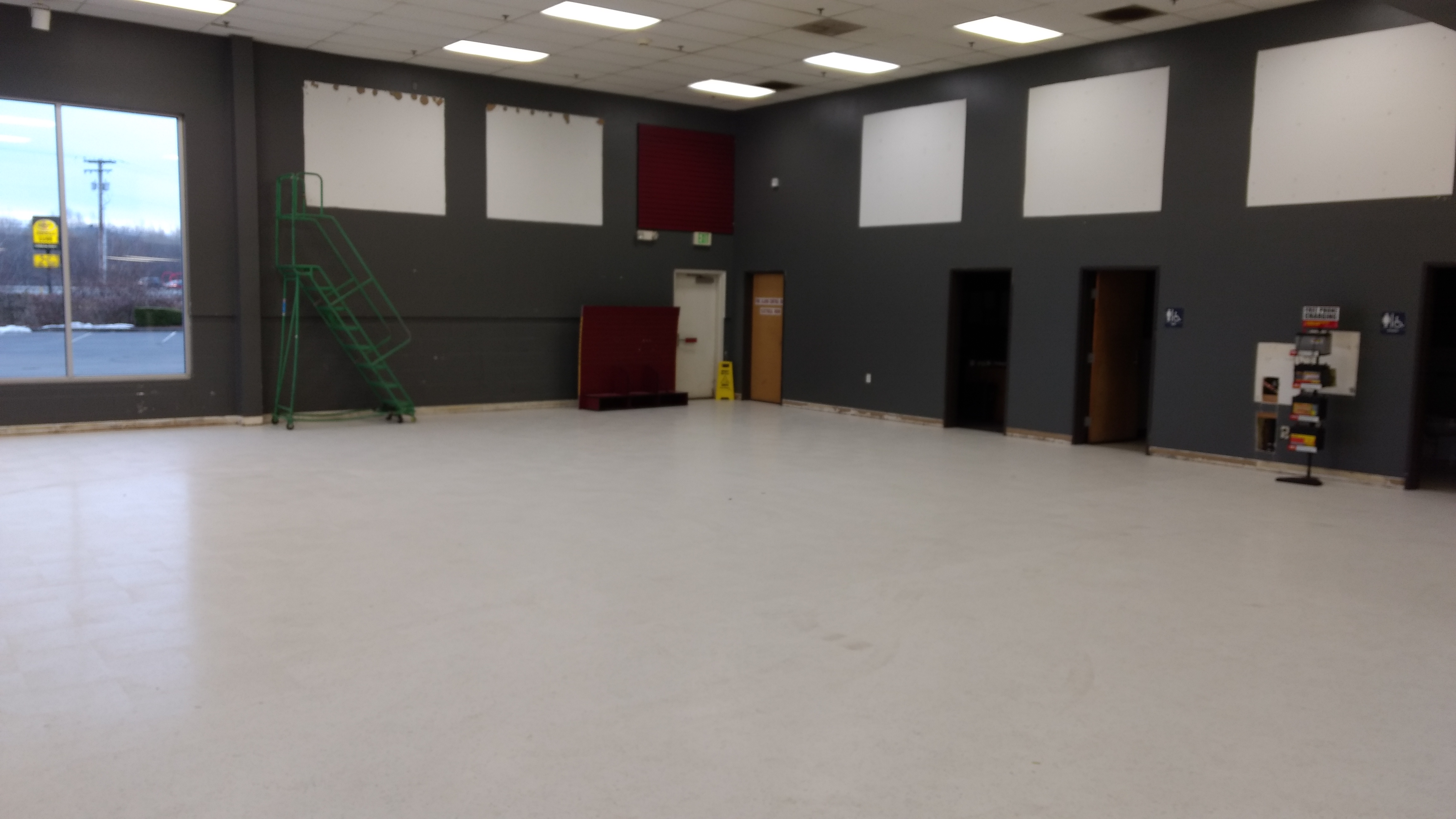 """The interior of the Ferndale Les Schwab Tires location awaits new paint and other new trim elements during a """"remodernization"""" project (February 27, 2019). Photo: My Ferndale News"""
