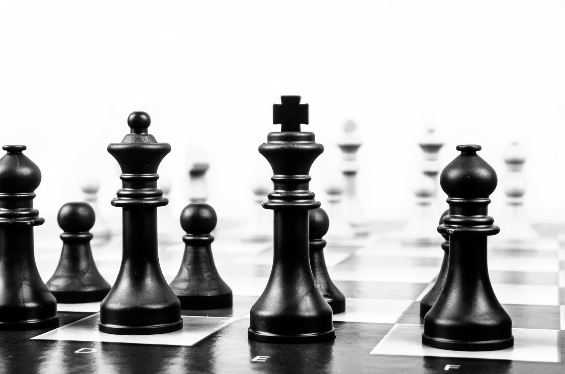 playing chess game power strength