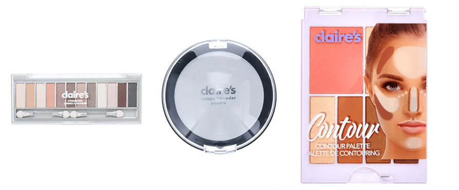 Photos of recalled Claire's Stores products (March 12, 2019). Courtesy of US Food & Drug Administration.