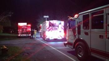 Scene of a pickup truck vs a parked semi truck headon crash on Portal Way (April 12, 2019). Photo: My Ferndale News