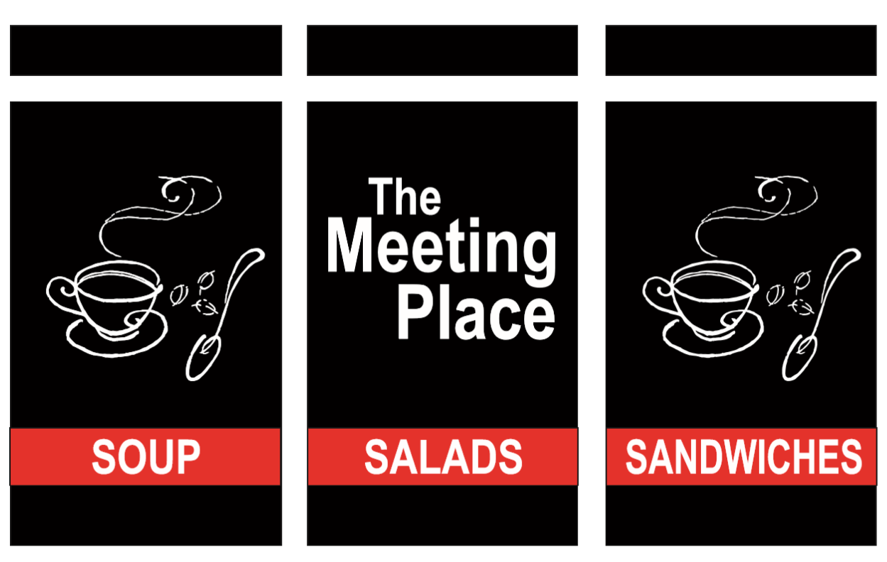the meeting place window signage logo
