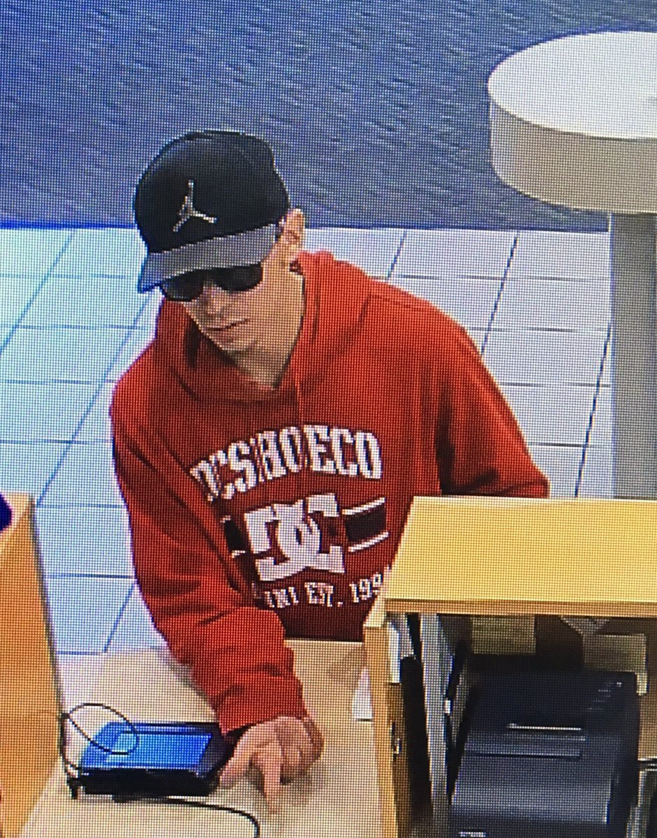 Security camera image of a suspect associated with a robbery of the ICU branch on Northwest Avenue in Bellingham. Source: Bellingham Police Department