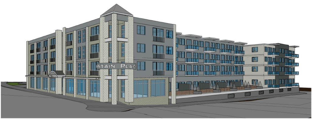 Fountain Place architectural rendering (September 2019). Source: City of Ferndale