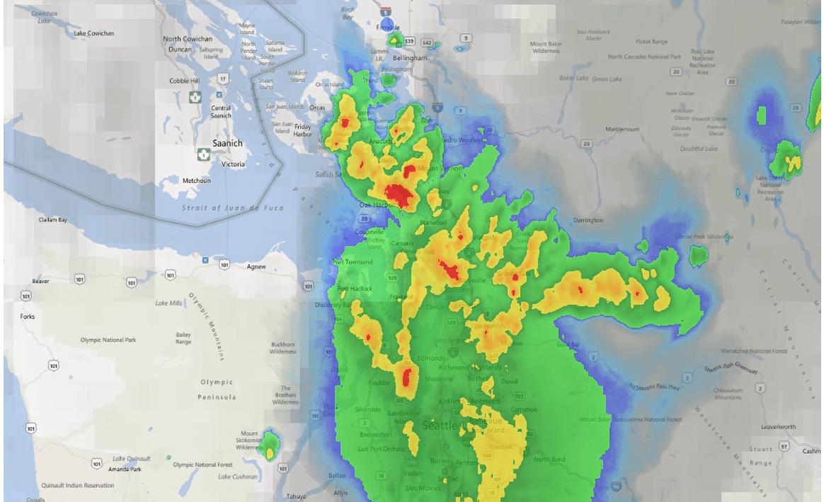 weather system on radar