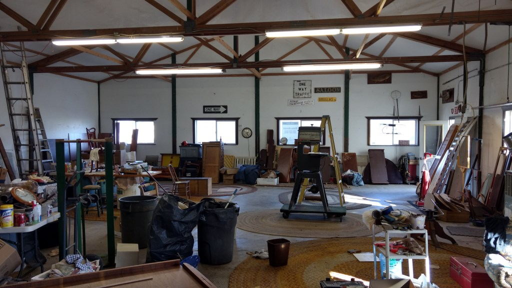The interior of The Strip Shop, on Portal Way, after nearly all inventory has been hauled away in preparation for closing (October 14, 2019). Photo: My Ferndale News