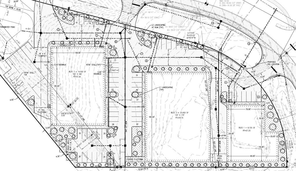 site plan for 5335 Barrett Rd