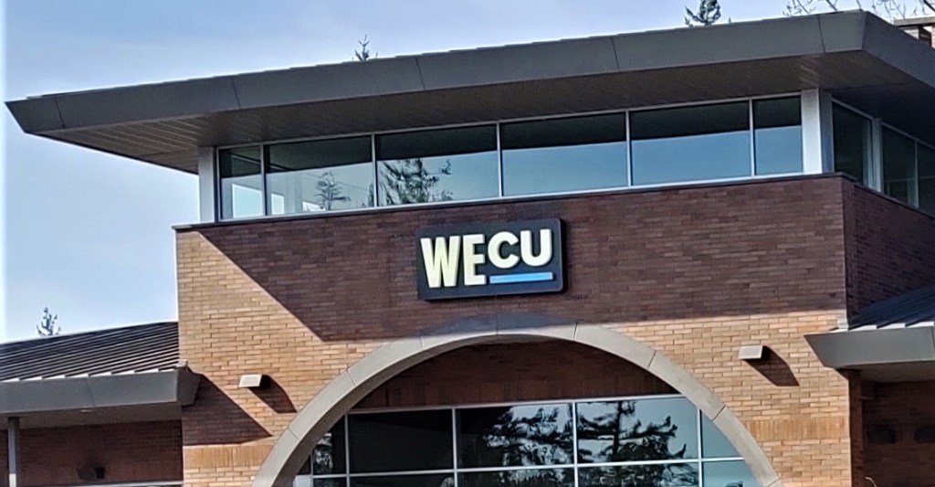 Ferndale branch of Whatcom Educational Credit Union (March 19, 2020). Photo: My Ferndale News