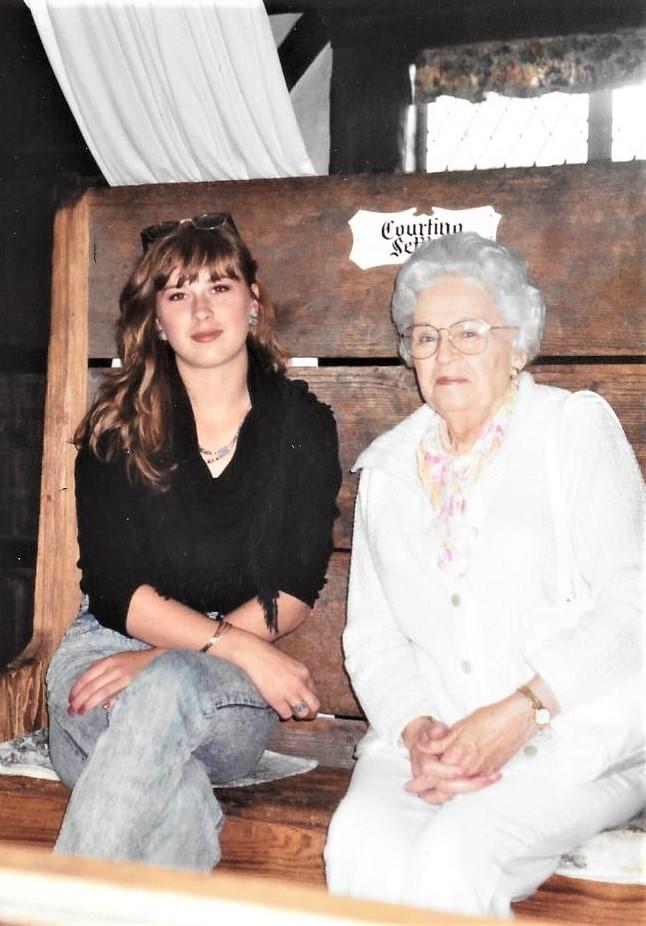 Grandma Helen and me. Photo courtesy of Nichole Schmitt