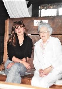 Grandma Helan and me. Photo courtesy of Nichole Schmitt