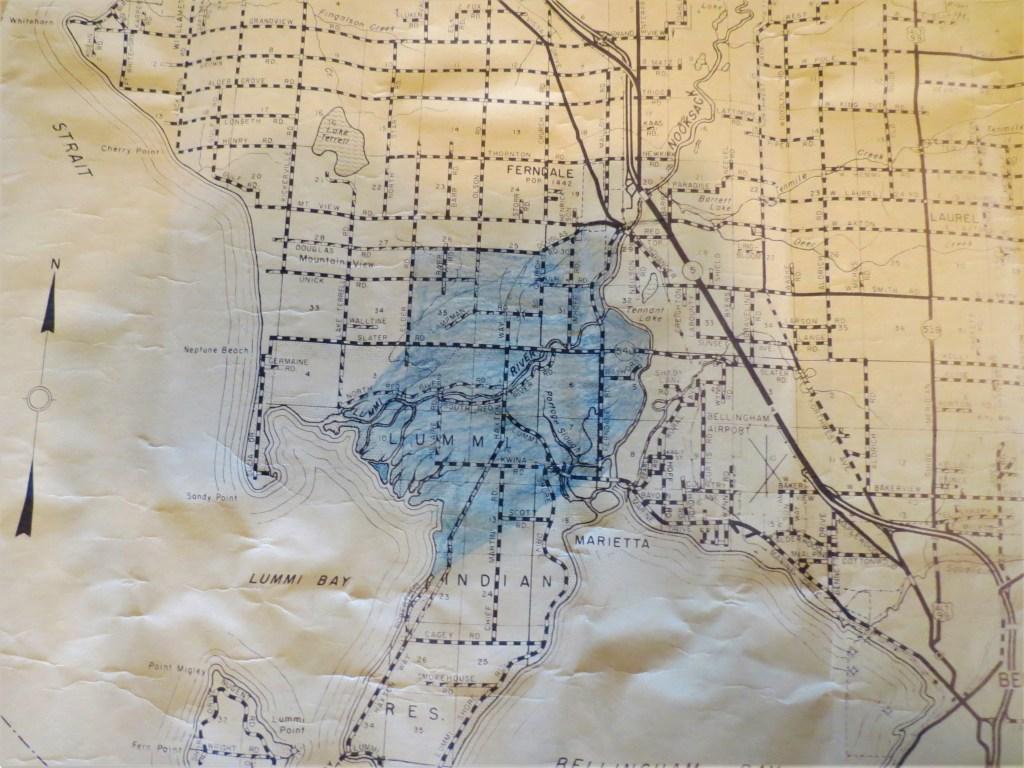 Undated map of western Whatcom County. Courtesy of Sheri Ellis