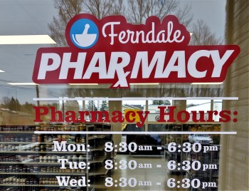 Looking into the store of the Ferndale Pharmacy (November 9, 2020). Photo: My Ferndale News