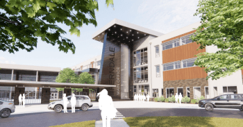 Preliminary design rendering of the proposed Ferndale High School replacement buildings (July 31, 2020). Source: Dykeman Architects