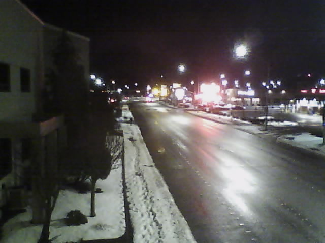 Main Street MFN webcam image at 6:00am (February 16, 2021).
