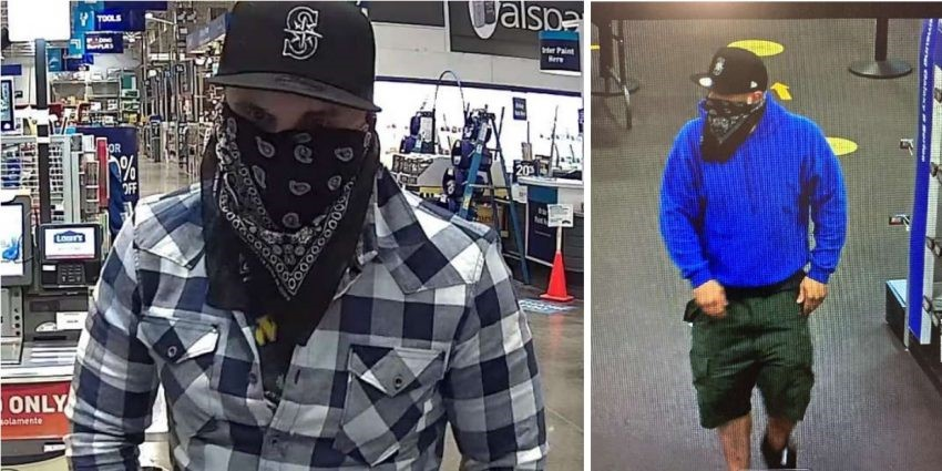 Photos of theft suspect. Source: Ferndale Police Department