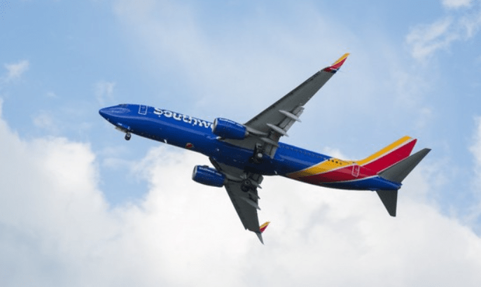 Southwest Airlines plane. Source: Southwest Airlines