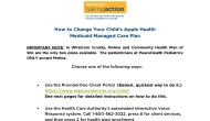 Medicaid–How to Change a Managed Care Plan