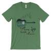 Amazing Acoustic Guitar Tree Graphic Music Art T-Shirt